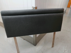 Dark grey double headboard