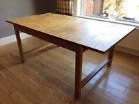 IKEA Solid Oak Extendable Table