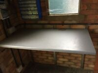 Wall mounted worktop for the shed