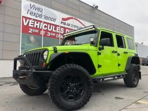 Jeep Wrangler Unlimited 4WD 4dr Rubicon+CUIR+NAV+BEAU LOOK!! 201