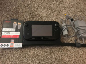 Black Nintendo Wii U w/ All Cords - Great Cond! Tested!