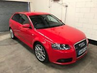 2007 Audi A3 S Line 2.0 Tfsi 6 Speed Manual, Full Leather interior, Service History* Warranty