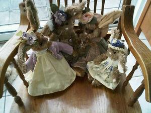 Vintage Bearington Bear Easter Family