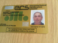 LOUGHTON ESSEX JIB APPROVED ELECTRICIAN 25 YEARS EXPERIENCE