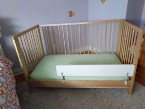 IKEA Gulliver convertible crib + mattress