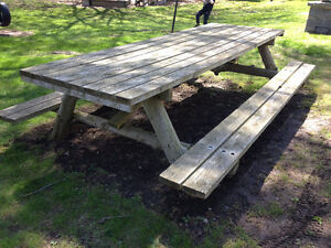 Large Handcrafted Cedar Picnic Table