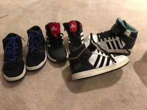 Youth Boys size 5 size 6 and size 7 running shoes adidas