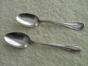 TWO SILVER-PLATED TEASPOONS for RING-MAKING