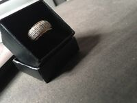 9 ct gold and diamond ring