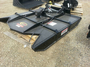 "New 72"" open front brush mower skid steer attachment"