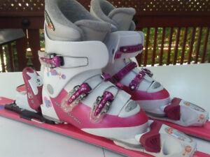 Kit de ski junior pour fille (skis 97 cm et bottes 21,5)