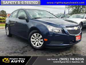 2011 Chevrolet Cruze LS | NEW TIRES | 181Km | SAFETY & E-TESTED
