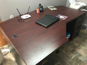 Desk with matching bookstand
