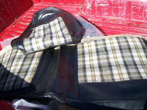"1971 Dodge Demon seat coverings/4' plow/John Deer 36"" plow"