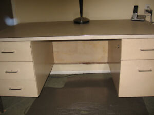Industrial heavy duty steel desk