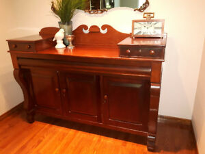 Antique 1850's English Walnut Sideboard