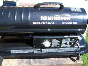 Remington heater 70,000 BTU thermostat equipped