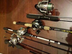 Canne a peche et moulinet/fishing reels and rods NEW/Neuf