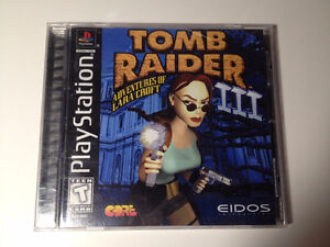 RARE PLAYSTATION 1 Tomb Raider 3 Complete in box
