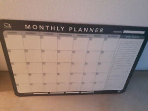 Large Monthly Planner, Whiteboard and Organizer