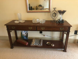 Console table, End tables & Coffee table - Stanley Furniture