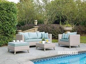 ifurniture warehouse sale --VALENCIA 4 PCS Patio Sofa Set * Aluminum frame--Free Delivery in Edmonton