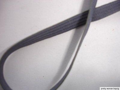 10m Gummiband 0,20€/m grau 5mm breit Webgummi ED77