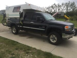 2001 gmc duramax and truck camper