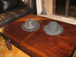 2 Chapeau de cow-boy cuir made in canada
