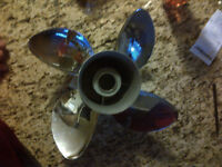 Michigan Wheel Stainless Steel 4 blade propeller (new)