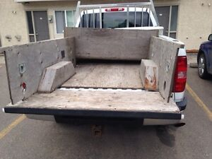 Pick up truck box wood protection
