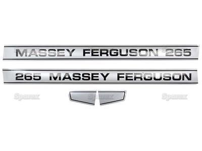 Decal Kitset For Massey-ferguson Mf 265 Mf265 Tractor - Straight Hood - Sparex