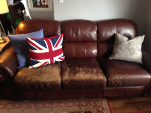 Rich Brown Leather Couches