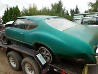 1972 cutlass 2dr hardtop body shell and chassie