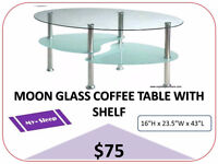 COFFEE TABLES, SIDE TABLES, CONSOLE TABLES- Brand New