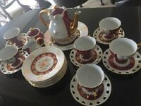 24CT Gold Plated Tea Set in immaculate condition