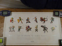 RARE discontinued Club Nintendo Zelda Poster set 2010