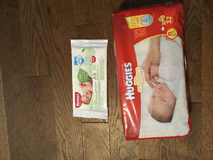 Huggies wipes & diapers