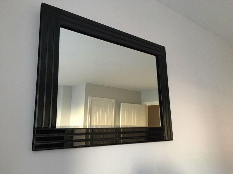 Black framed mirror 9 in llanelli carmarthenshire for Mirror 60cm x 80cm