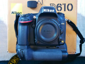 Nikon D610 Camera Canadian Model with Extra Grip and battery