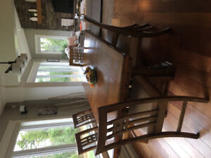 Dining (Trestle) table incl. 8 dining chairs