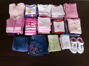Box of assorted Baby Girl Clothes (12-18 mts)
