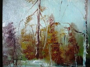 "Original Oil Landscape by W P Gamon ""Early Spring"" Stratford Kitchener Area image 10"