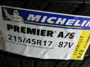 j ai 4 michelin 215 45 17 PREMIER AS NEUFF 4 SAISONS