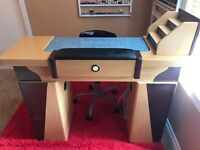 Manicure table $100, and UV gel lamp $30