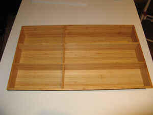 Range couverts - Flat tray in Bamboo Ikea Variera.