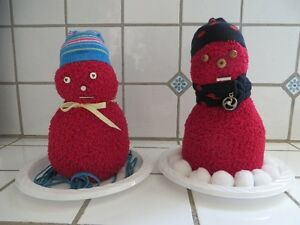 Hand Made Snow Couple