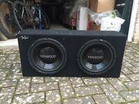 "Kenwood Subwoofer and JVC amp. Twin 12"" sub"