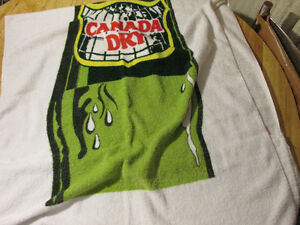 CANADA DRY Pop Soda Towel Vintage Made In Canada Coca Cola