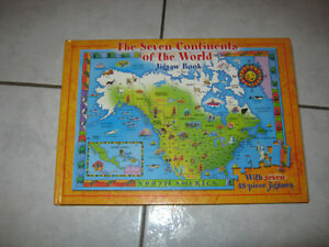 NEW Seven Continents of the World Jigsaw Book(7 x 48 pc)